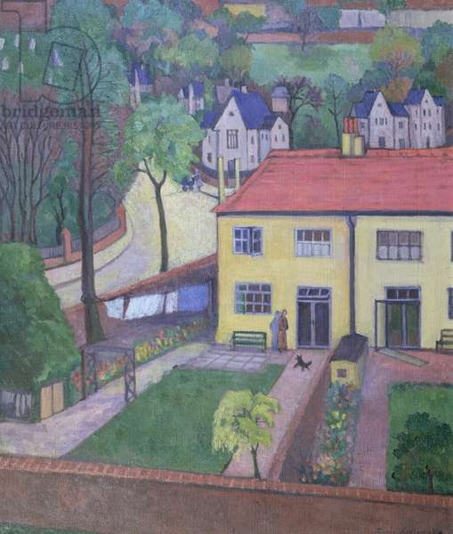 Back Gardens, before 1936 (oil on canvas)