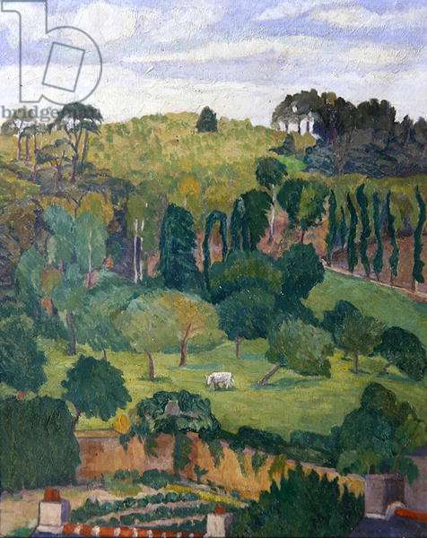 At the Edge of the Village, before 1936 (oil on canvas)