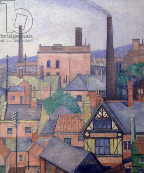 Industrial Roofscape, c.1931 (oil on canvas)