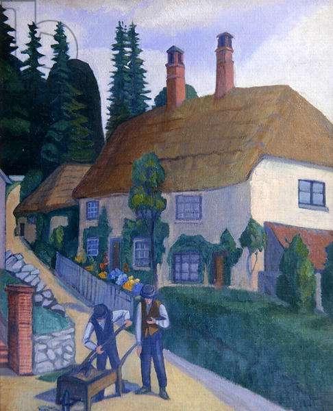 Luppitt Post Office, c.1920 (oil on canvas)