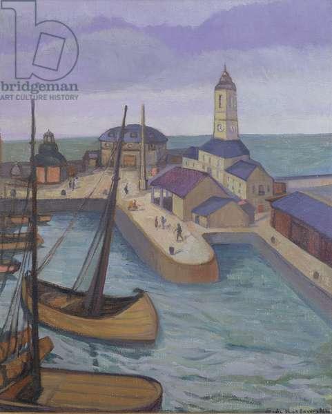 Ramsgate Harbour, c.1927 (oil on canvas)