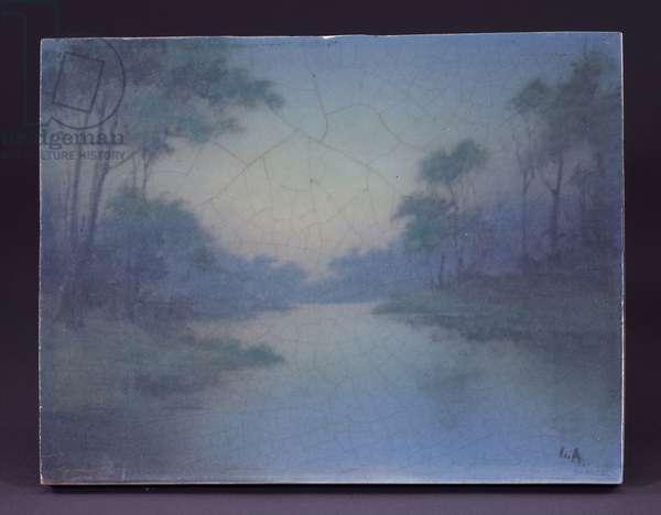 Plaque, 1921 (glazed porcelain)