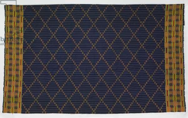 Man's Wrapper (Kente Cloth), 20th century (cotton & silk)
