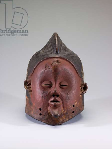 Hemba Mask for the N-khanda Society, late 19th century (wood and pigment)