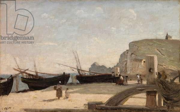 The Beach, Etretat, 1872 (oil on canvas)