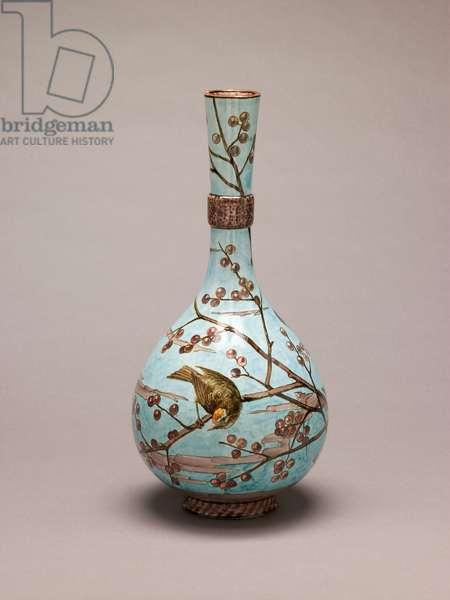 Vase, 1878 (painted & glazed earthenware)