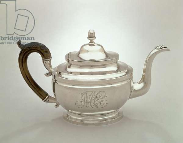 Teapot, c.1817 (silver & wood)