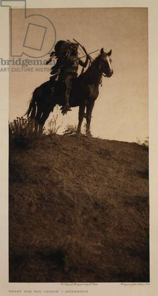 Ready for the Charge - Apsaroke, 1908 (photogravure)