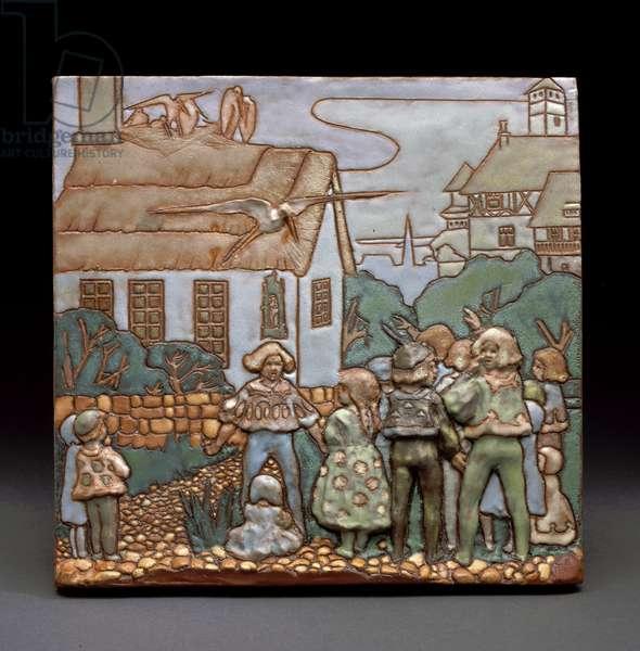 Fairy Tale Tile, c.1911 (glazed earthenware)