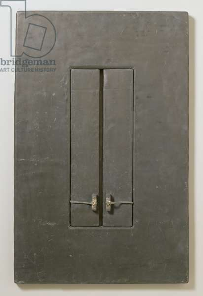 Untitled, 1964 (lead over plywood with wire)