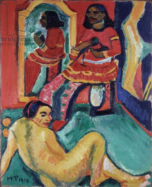 Indian and Woman, 1910 (oil on canvas)