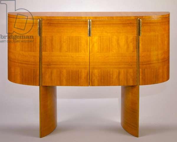 Sideboard, from the W. E. Bixby Residence, Kansas City, Missouri, 1936 (open-pore walnut & brass)