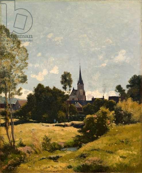 The Village Church, 1891 (oil on canvas)