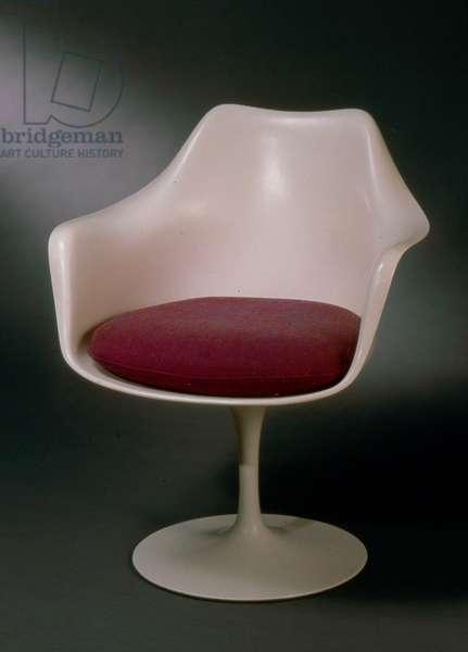 Armchair, c.1960 (plastic, fibreglass, foam, aluminium & upholstery)