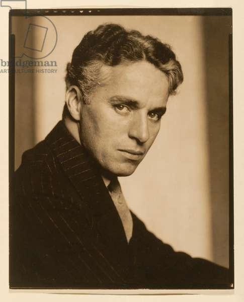 Charles Chaplin, 1925 (toned gelatin silver print)