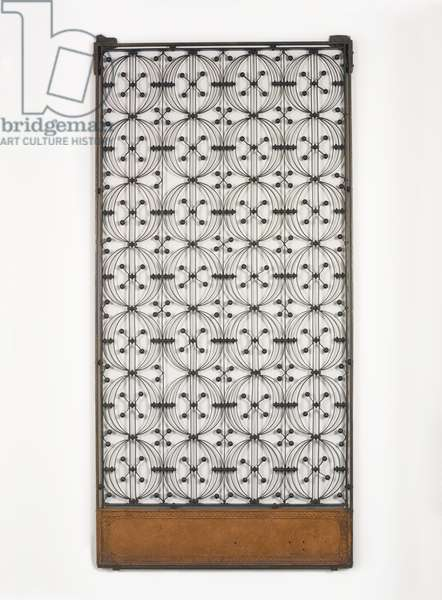 Elevator Grille, from the Chicago Stock Exchange Building, Chicago, Illinois, 1893-95 (cast & forged iron)