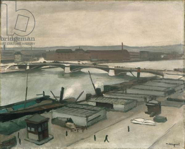The Quays at Rouen, 1912 (oil on canvas)