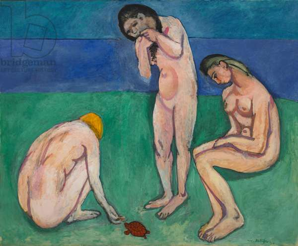 Bathers with a Turtle, 1907-8 (oil on canvas)