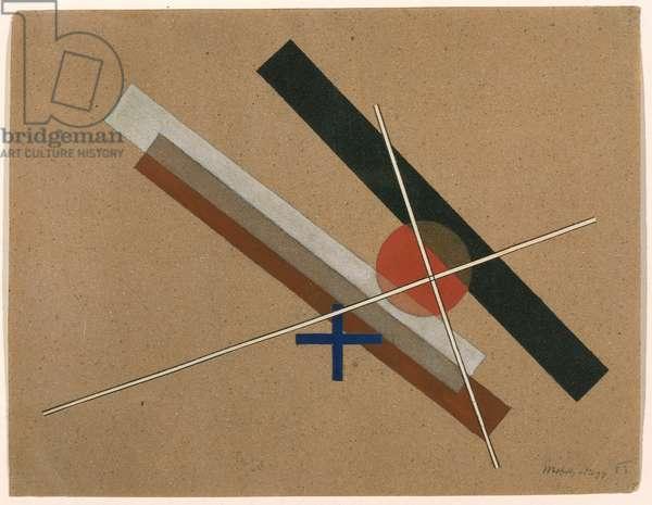 G. SMIRG, 1923 (w/c & collage on sandpaper)
