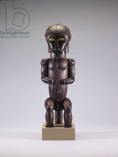 Reliquary Guardian Figure (eyema-o-byeri), before 1910 (wood with iron, brass, and palm oil)