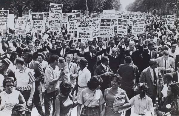Dr. Martin Luther King, Jr. in the midst at the March on Washington, 1963, printed c.1970 (gelatin silver print)
