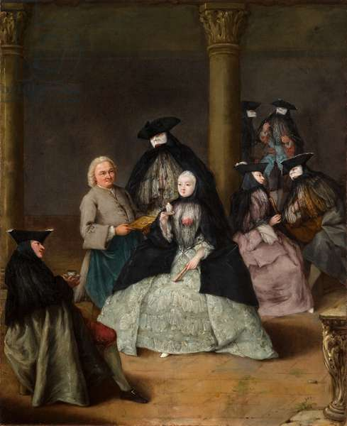 Masked Party in a Courtyard, 1755 (oil on canvas)