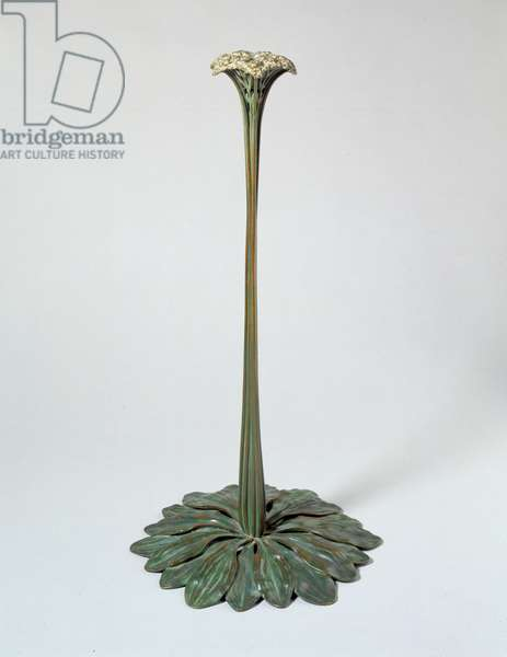 Candlestick in the form of a Saxifrage, 1902–19 (bronze)