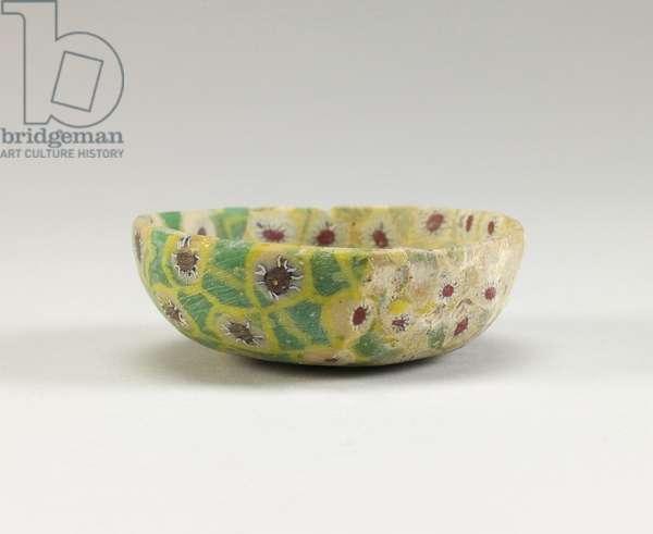 Miniature Bowl, Abbasid period, 9th century (millefiori glass)