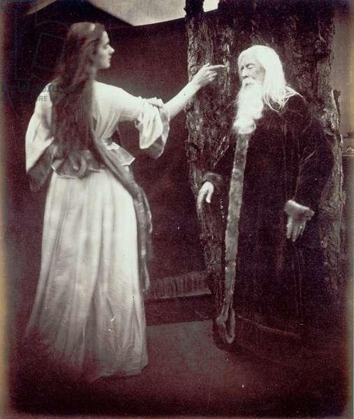 Vivien and Merlin, 1874 (albumen print)