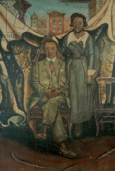 Father & Mother Tin-Type, 1939 (oil on canvas)