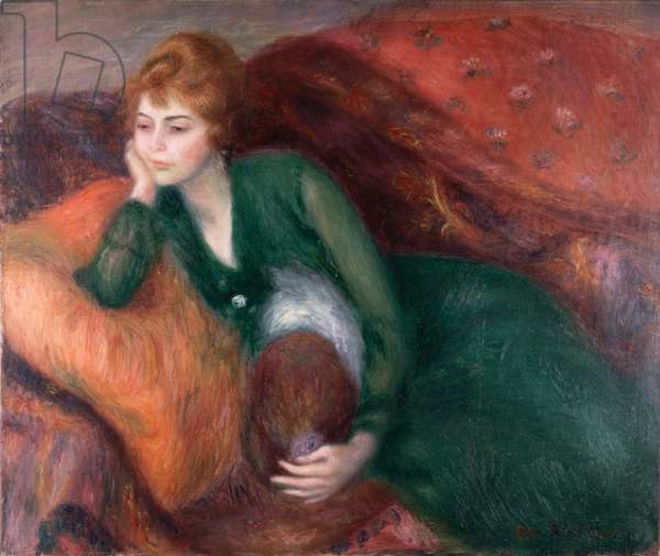 Young Woman in Green, c.1915 (oil on canvas)