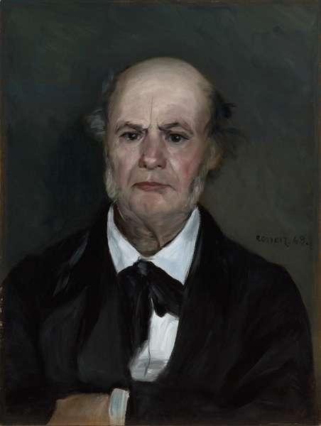 Léonard Renoir, The Artist's Father, 1869 (oil on canvas)