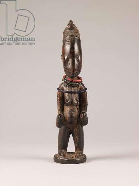 Shango Shrine Figure, 19th century (wood, fibre & glass and plastic beads)