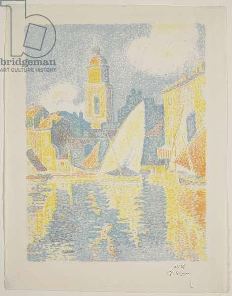 The Port of St. Tropez, 1897-98 (colour litho)