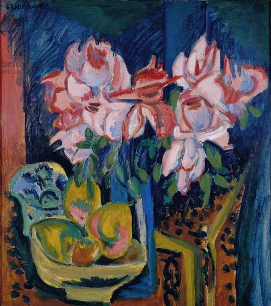 Pink Roses, 1918 (oil on canvas)