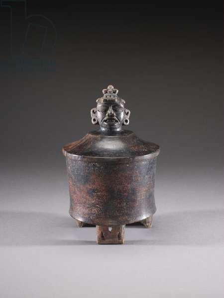 Tripod Vessel with Lid, c.350-450 (ceramic)