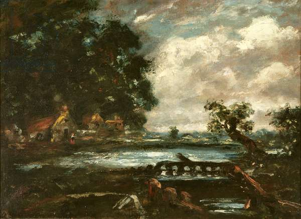 Study for The Leaping Horse (View on the Stour) (oil on canvas)