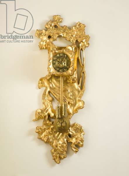 Wall Clock from the Casa Milà, Barcelona, Spain, c.1909 (gilded wood, plaster, brass & metal)