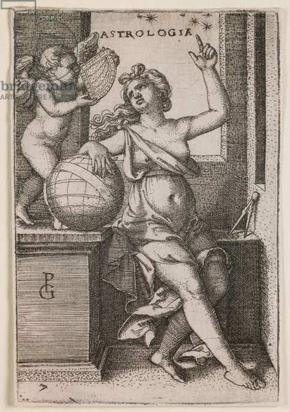 "Astrology, from the series ""The Liberal Arts"", c.1541 (engraving)"