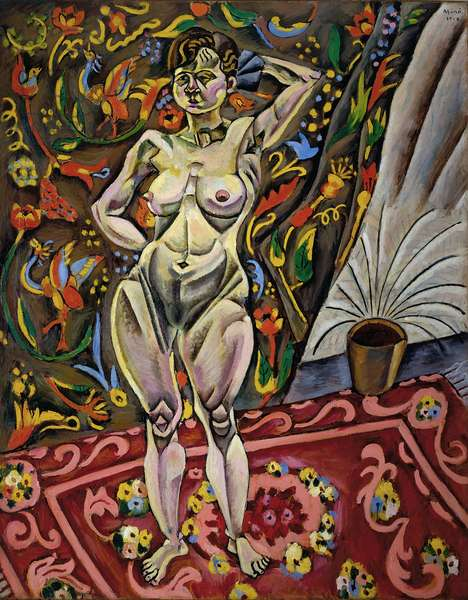 Standing Nude, 1918 (oil on canvas)