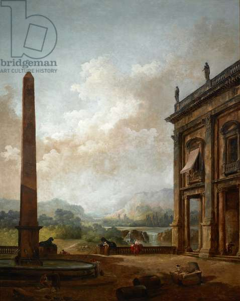 The Obelisk, 1789 (oil on canvas)