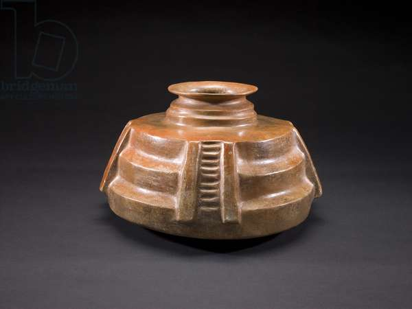 Vessel in the Form of a Circular Pyramid, Late Formative period (ceramic)