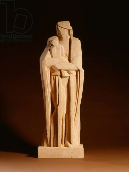 Modern Madonna, c.1918-19 (terracotta with traces of paint)