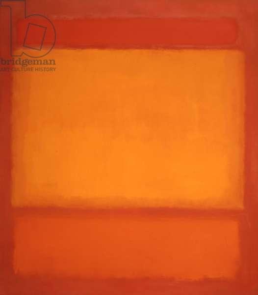 Red, Orange, Orange on Red, 1962 (oil on canvas)