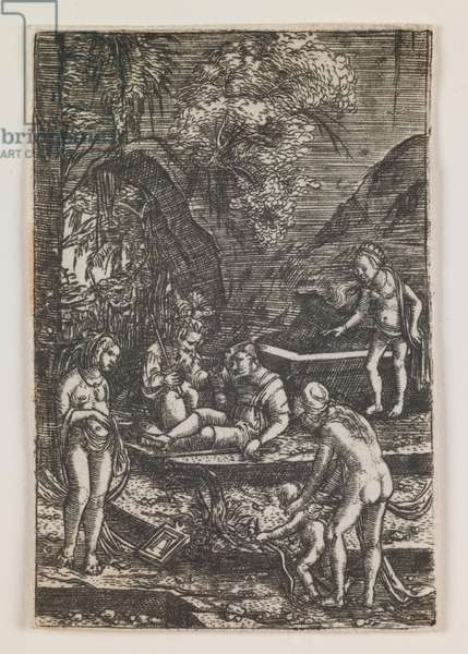 The Judgment of Paris, 1515-18 (engraving)