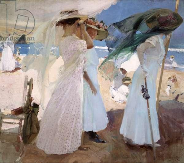 Under the Awning, Zarauz, 1910 (oil on canvas)