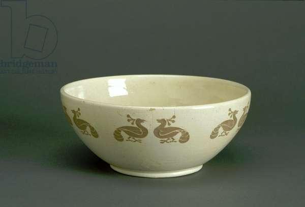 Bowl, 1911 (glazed earthenware with applied slip decoration)