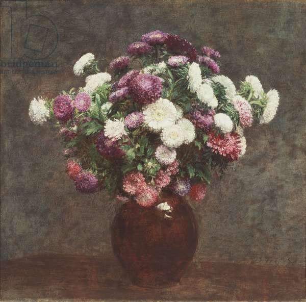 Asters in a Vase, 1875 (oil on canvas)