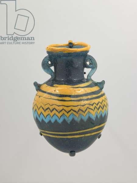 Oil Flask (aryballos), Archaic Period, late 6th-5th century BC (glass)