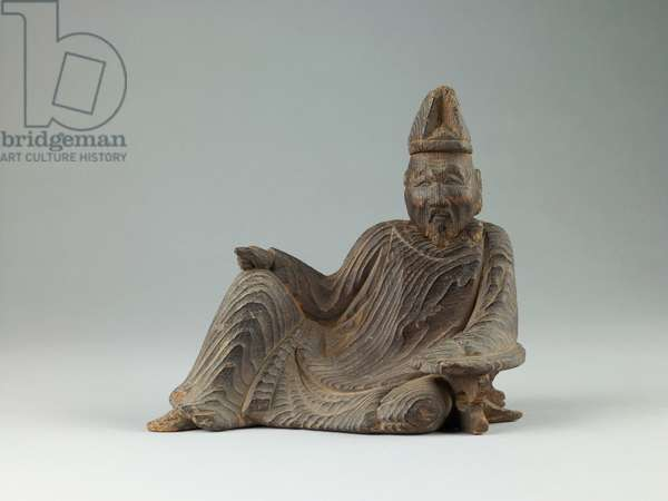 The poet Kakinomoto no Hitomaro, late 16th century (wood)
